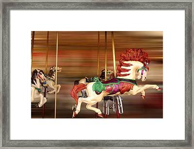 Carousel Rush Framed Print