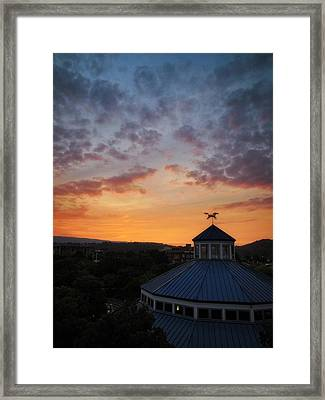 Carousel Sunset 2 Framed Print
