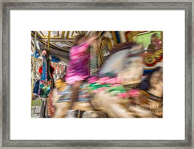 Carousel Framed Print by Susan Cole Kelly Impressions