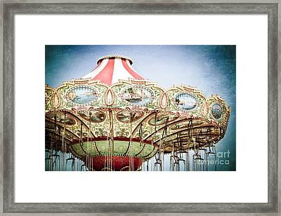Carousel Top Framed Print by Colleen Kammerer