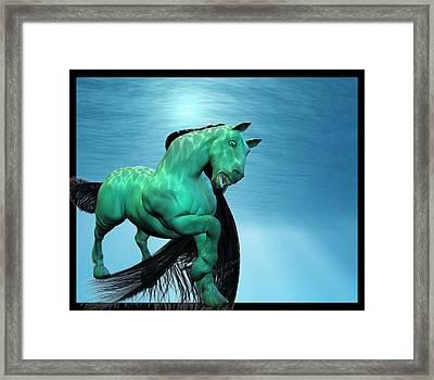 Carousel Vi Framed Print by Betsy Knapp