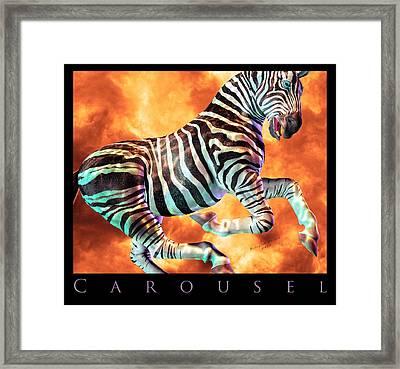 Carousel Zebra Framed Print by Betsy Knapp