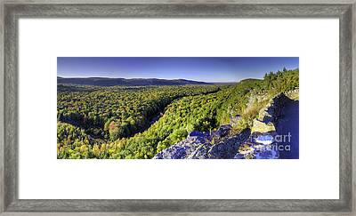 Carp River In Porcupine Mountains Framed Print by Twenty Two North Photography