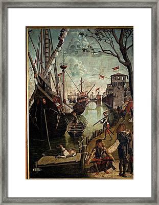 Carpaccio Vittore, Legend Of St Ursula Framed Print
