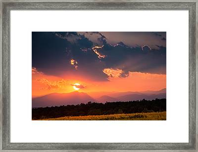 Carpathian Sunset Framed Print by Mihai Andritoiu