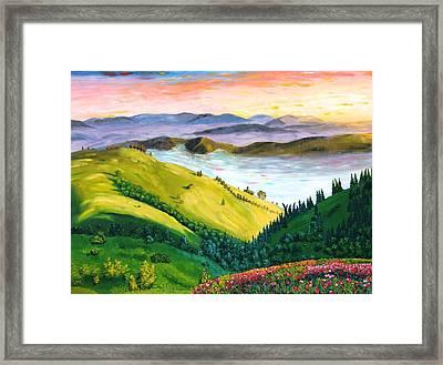 Carpathians Framed Print by Mykhajlo Vaidulych