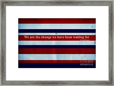 Carpe Diem Series - Barack Obama Framed Print