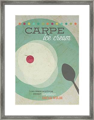 Carpe Ice Cream Framed Print by Tammy Apple