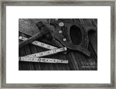 Carpenter - Measure Twice Cut Once Framed Print