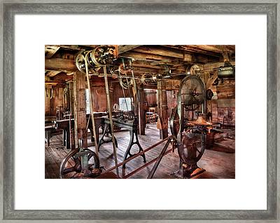 Carpenter - This Old Shop Framed Print by Mike Savad