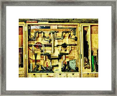 Carpenter - Woodworking Tools Framed Print by Susan Savad