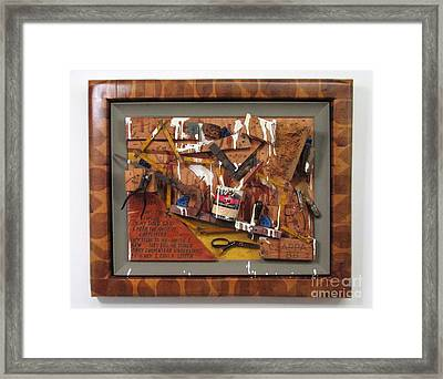 Carpenters Lament  #15 Framed Print by Bill Czappa
