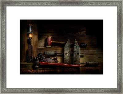 Carpentry Still Life Framed Print by Tom Mc Nemar
