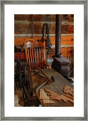 Carpentry Workshop Framed Print by Dan Sproul