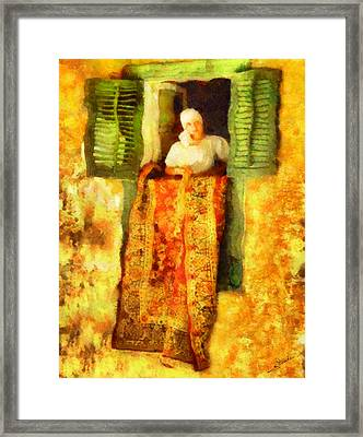 Carpet Cleaning Framed Print by George Rossidis