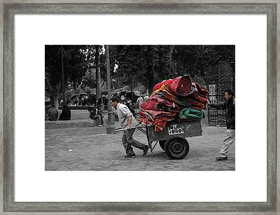 Carpet Old Market Framed Print by Ali ArtDesign