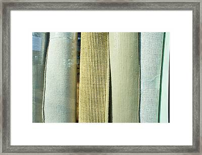 Carpet Shop Framed Print by Tom Gowanlock