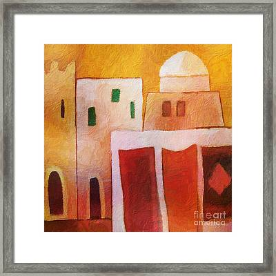 Carpet Town Framed Print