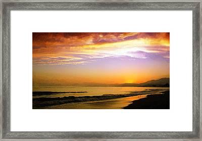 Carpinteria Sunset Framed Print