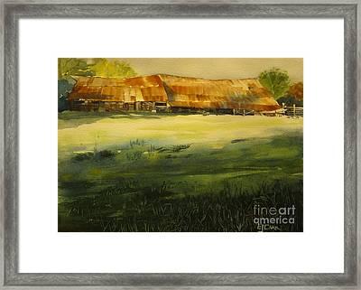 Carr Barn Framed Print by Elizabeth Carr