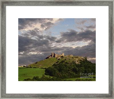 Carreg Cennen Castle North Face Framed Print by Anthony Forster