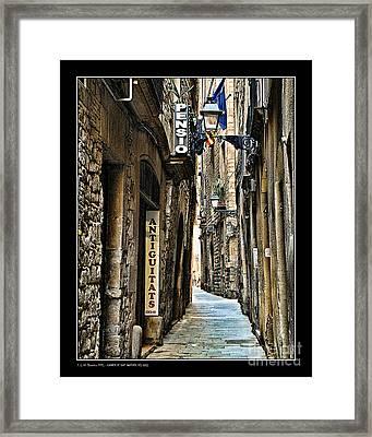 Carrer De Sant Domenec Del Call Framed Print