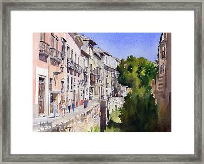 Carrera Del Darro Framed Print by Margaret Merry