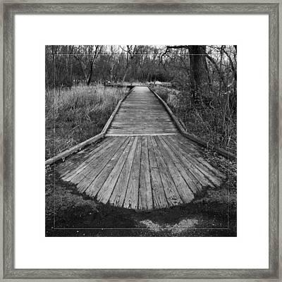 Carriage Hill Boardwalk A Framed Print by Robert Clayton