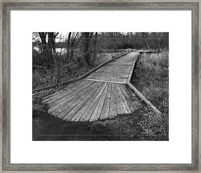 Carriage Hill Boardwalk B Framed Print by Robert Clayton