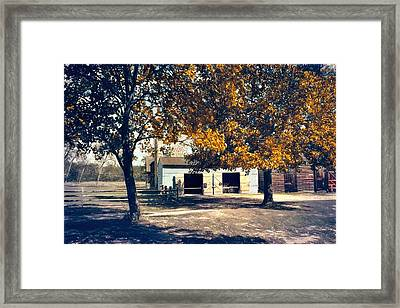 Carriage House At Batsto Village Framed Print