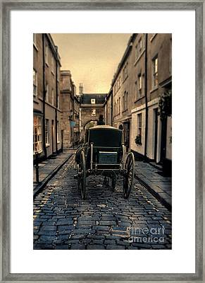 Carriage On Narrow Street Framed Print by Jill Battaglia
