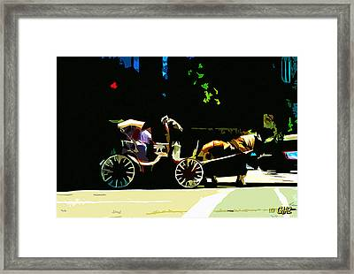 Carriage Ride Framed Print by CHAZ Daugherty
