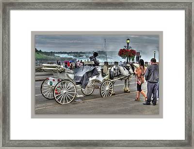 Carriage Ride Framed Print by Cindy Haggerty