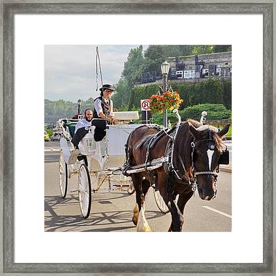 Carriage Ride Down River Road Framed Print by Simply  Photos