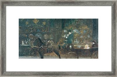 Carriage Ride Framed Print by Giuseppe De Nittis