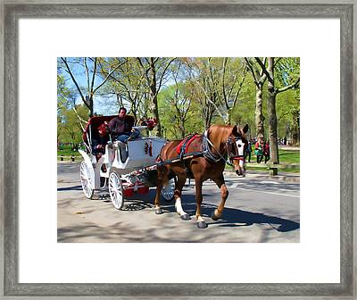 Framed Print featuring the photograph Carriage Ride In Central Park by Eleanor Abramson