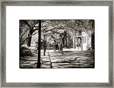 Carriage Ride In Charleston Framed Print by John Rizzuto