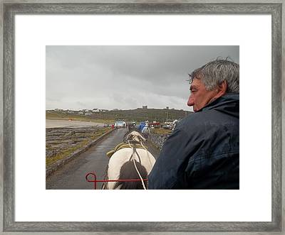 Carriage Ride On Inis Oirr Framed Print
