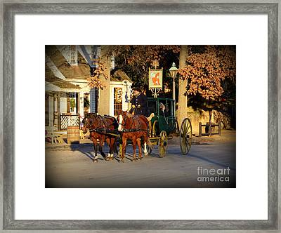 Carriage Ride Framed Print by Patti Whitten