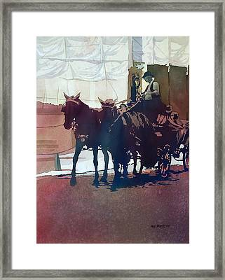Carriage Trade Framed Print by Kris Parins