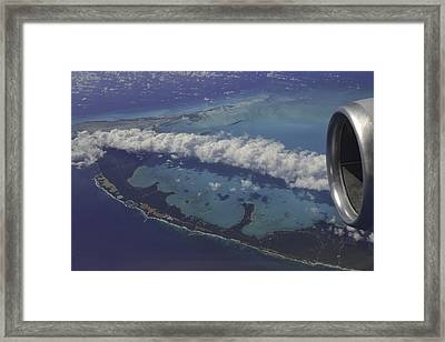Carribbean Aerial 2 Framed Print