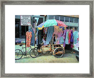 Carribean Colors Framed Print by David Schneider