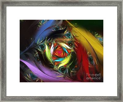Carribean Nights-abstract Fractal Art Framed Print