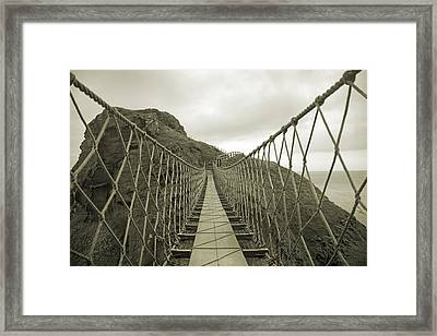 Carrick-a-rede Rope Bridge Framed Print by Betsy Knapp