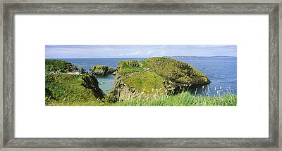 Carrick-a-rede Rope Bridge Framed Print