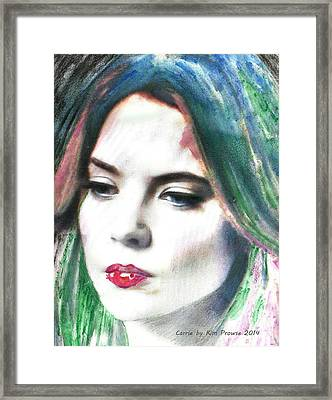 Carrie Stages Framed Print