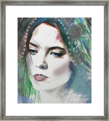 Carrie Under Veil Framed Print by Kim Prowse