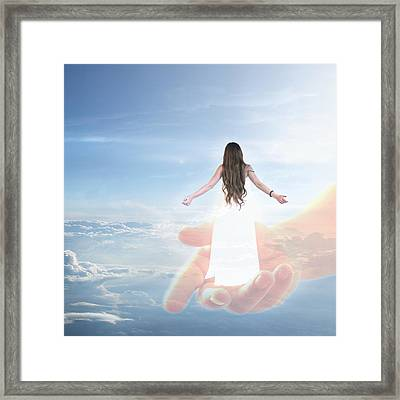 Carried By God's Hand Framed Print