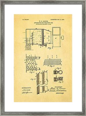 Carrier Air Conditioning Patent Art 1906 Framed Print