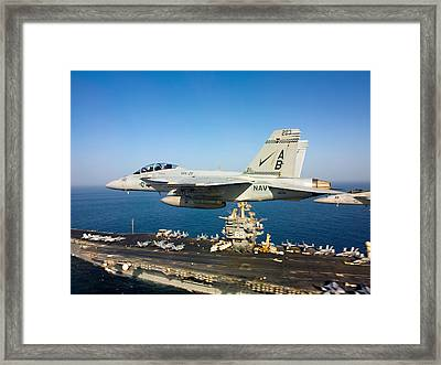 Carrier Below Framed Print by Ricky Barnard
